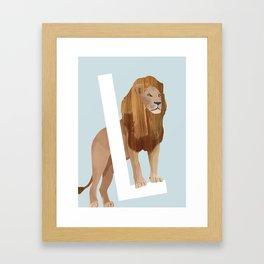 L - Lion Framed Art Print