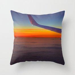 Sunrise over the seventh sky Throw Pillow