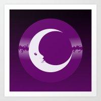 luna Art Prints featuring Luna by tuditees
