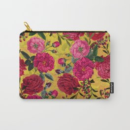 Vintage & Shabby Chic - Summer Tropical Roses Flower Garden Carry-All Pouch