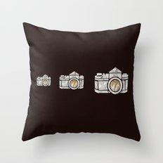 White Camera Throw Pillow
