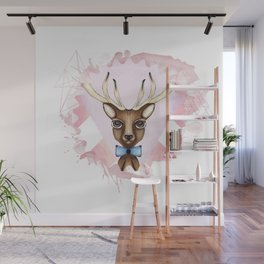 Pink Deer - Ciervo Rosa Wall Mural