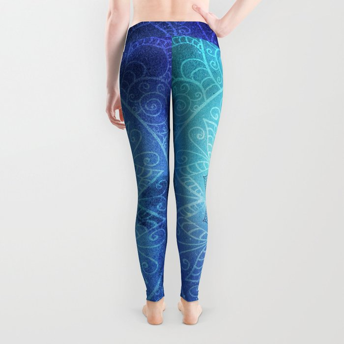 Abstract Flower of life Deep Space Leggings