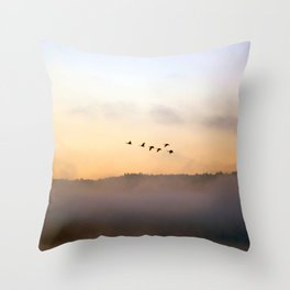 Summer's End in the Adirondacks Throw Pillow