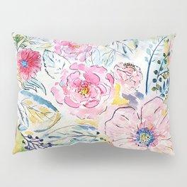 Watercolor hand paint floral design Pillow Sham