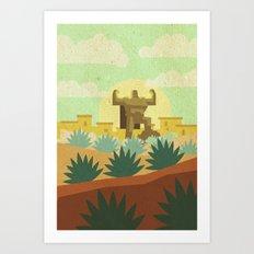 Pueblucho  Art Print