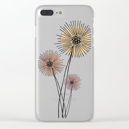 Coral pink Dandelion Clear iPhone Case