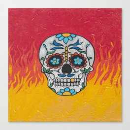 DAY OF THE DEAD - FLAMING RED VOODOO Canvas Print
