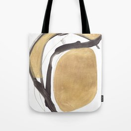 Gold and Black Abstract Tote Bag