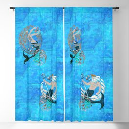 Myth of the Sea New Age Blackout Curtain