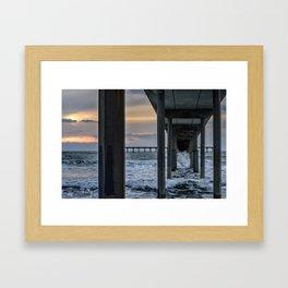 Sky Painting (Ocean Beach Peir) 5-16-2015 Framed Art Print