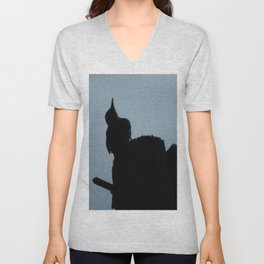 Woodpecker Checking the Weather Unisex V-Neck