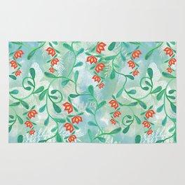 Floral pattern. 4 Rug