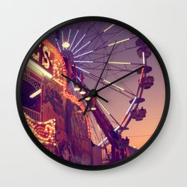 Midway Sunset Wall Clock