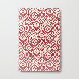 lezat red Metal Print