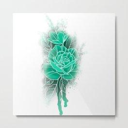 Mint Rose Metal Print