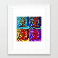 dna Framed Art Prints featuring DNA by Art By Carob