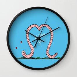 Worm-love! Wall Clock