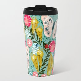 Buckeye Butterly Florals by Andrea Lauren  Travel Mug