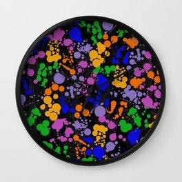 C13D Splatterings Wall Clock