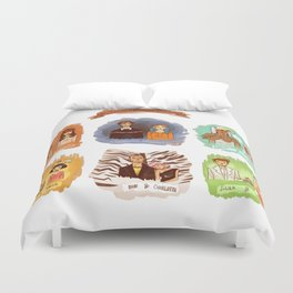 My favorite romantic movie couples Duvet Cover