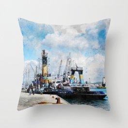 Trapani art 11 Throw Pillow