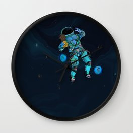 Spacemans pineapple is on the loss Wall Clock