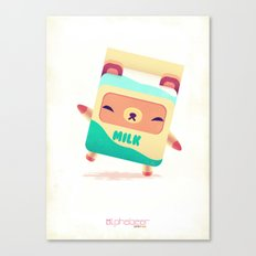 Milk Bear Canvas Print
