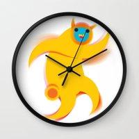robert farkas Wall Clocks featuring Robert by res_fly