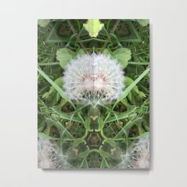 Green Bird (with Fascinator) Metal Print