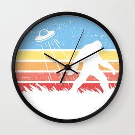 Sasquatch Bigfoot Alien UFO believer Gift Shirt Wall Clock