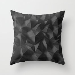 black rocks landscape Throw Pillow