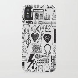 Music Doodles iPhone Case