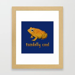Toadally Cool Psychedelic Toad Framed Art Print