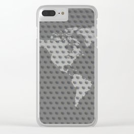 World map 4 Clear iPhone Case