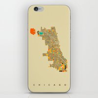 chicago iPhone & iPod Skins featuring Chicago by Nicksman