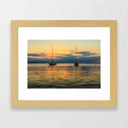 (Sailboats) At Bay Framed Art Print