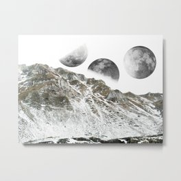 Three Moons Metal Print