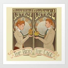 Lutece Twins Nouveau Art Print