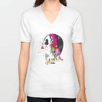 gypsy V-neck T-shirts featuring Gypsy by Dioni Pinilla