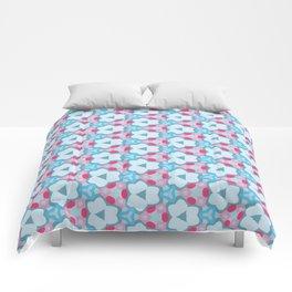 Flower-Kaleidoscope Blue Comforters