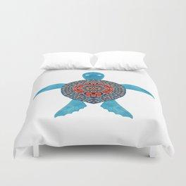 The Tribal Sea Turtle Duvet Cover