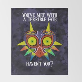 Majora's Mask Splatter (Quote) Throw Blanket