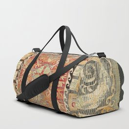 Kaitag 18th Century Caucasian Embroidery Print Duffle Bag
