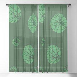 Green Bubbles Sheer Curtain