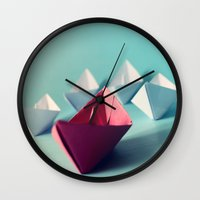 boats Wall Clocks featuring Boats by Studio Samantha