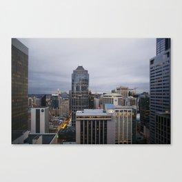 Downtown Seattle Cityscape Canvas Print