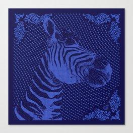 Zebra on bandana Canvas Print