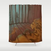 fili Shower Curtains featuring An Unusual Friendship by MelColley