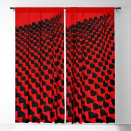 Eye Play in Black and Red Blackout Curtain